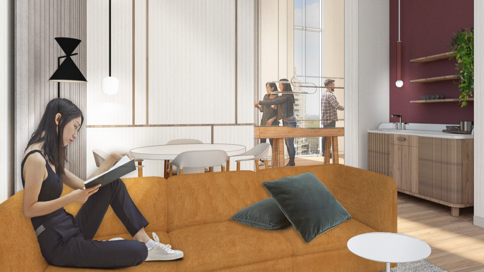 Rendering of lounge area