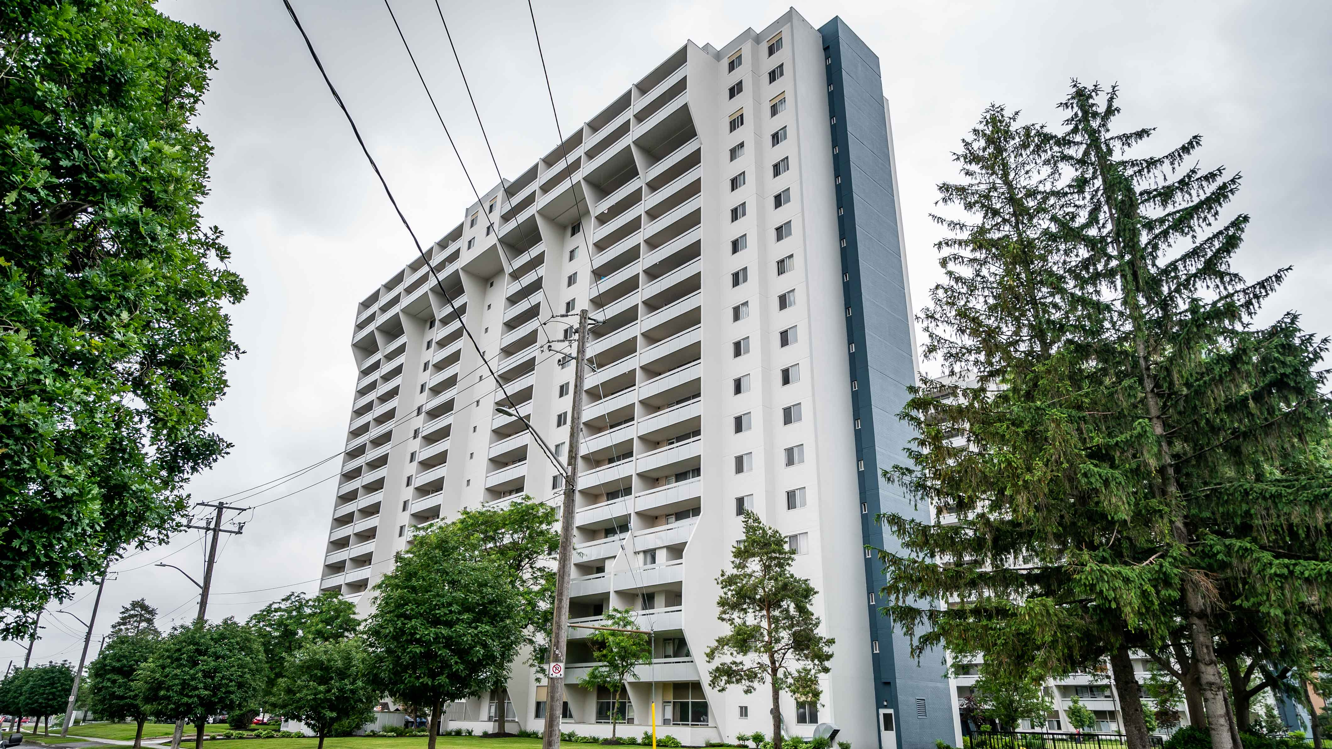 Exterior side of residential building